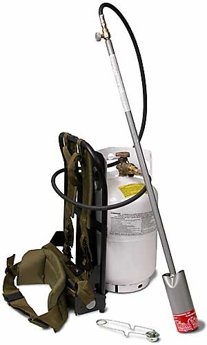 Red Dragon BP 2512 C 400,000 BTU Back Pack Propane Vapor Torch Kit - Flame Engineering, Inc. - RD-BP-2512-C - ISBN:B002LH462I
