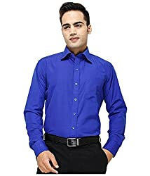 Frankline Men's Formal Shirt (Frankline-60_Blue_42)