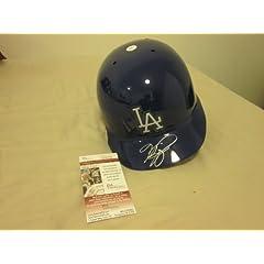 Mike Piazza Los Angeles Dodgers Autographed Helmet JSA