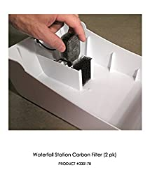 Replacement Activated Carbon Cartridges for PetStarz Waterfall Drinking Station for Dogs & Cats - 2 Pack