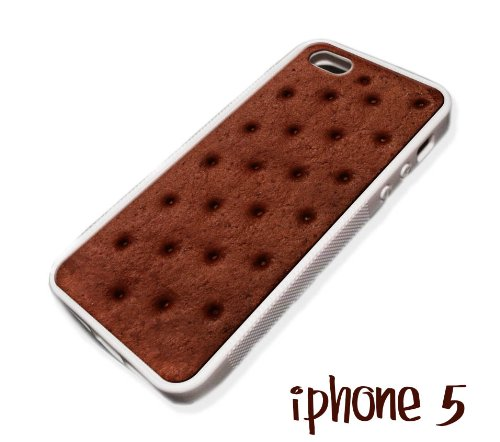 Ice Cream Sandwich iPhone 5 Case Silicone Rubber.Thank you Rachael