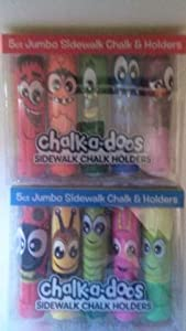 Chalk-a-doos, Silly Monsters 5ct, Chalk & Holders