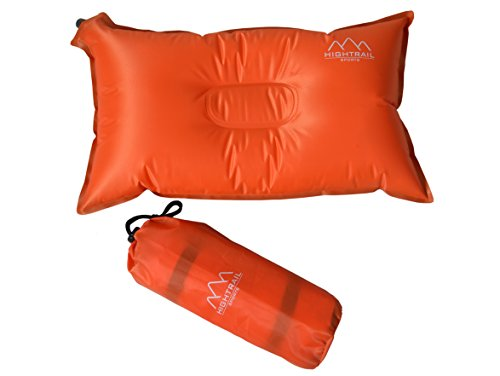 Self Inflating Camping Pillow/Travel Pillow - Essential Outdoor Sports Accessory For Hiking/Backpacking/ Picnics - Great Lumbar/Neck Support - Lightweight/Compressible - Take Comfort Wherever You Go
