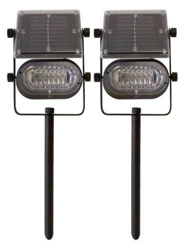 Tricod St238 Ultra Bright Solar Spot Light 6 Led Metal Body, 2-Pack
