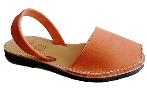 Sandali autentici di Minorca, vari colori, avarcas menorquínas. (37 unisex, Salmón nobuck)
