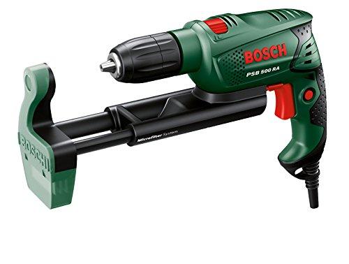 Bosch-DIY-Schlagbohrmaschine-PSB-500-RE-Tiefenanschlag-Zusatzhandgriff-Koffer-500-Watt-max-Bohr--Holz-25-mm-Beton-10-mm