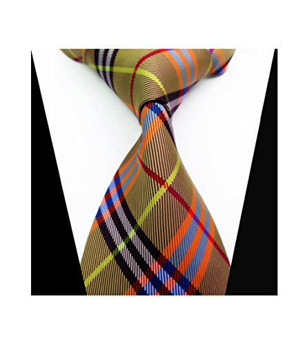 Striped Silk Woven Classic Check Man's Business Tie Necktie Korea Style Ties