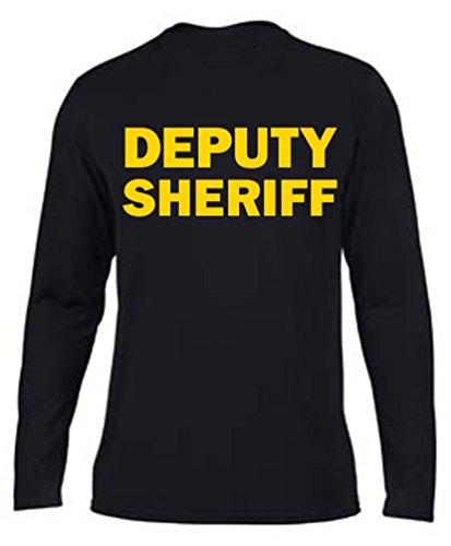 Moisture Wicking Deputy Sheriff Yellow on Black Long Sleeve
