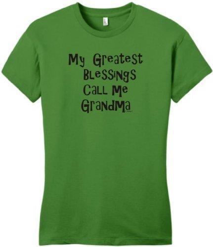 My Greatest Blessings Call Me Grandma Juniors T-Shirt Medium Kiwi Green front-369855