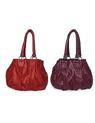 Arc HnH Women Combo Handbag Pretty - Red + Pink