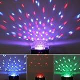 Lightahead® Rotating Strobe Disco Stage LED RGB DMX512 Crystal Magic Effect Dot Light Ball