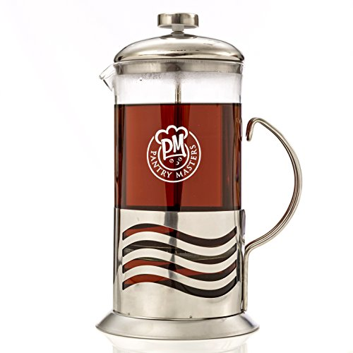 French Press Coffee Maker 34oz 8 Cup Stainless Steel Double Filter Borosilicate Glass (Borosilicate French Press compare prices)
