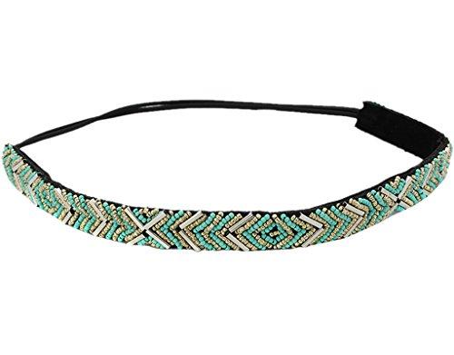 BONAMART--Damen-Mdchen-Elegent-Hippie-Perle-Breit-Stoff-Stirnband-Haarband