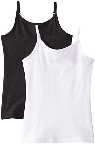 The Children's Place Girls Spaghetti-Strap Camisole (Pack of Two), Black/White, Large (10/12)