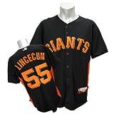 (マジェスティック)Majestic MLB ジャイアンツ #55 ティム・リンスカム AC Cool Base Player BP ユニフォーム 2011 (ブラック)