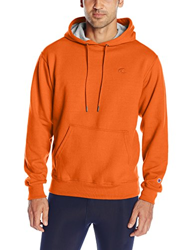 Champion Men's Powerblend Pullover Hoodie, Orange, Medium (Champions Clothing Men compare prices)