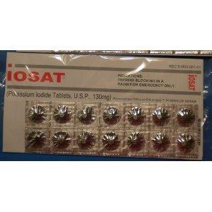 iOSAT Potassium Iodide Tablets, 130 mg (14 Tablets) by iOSAT