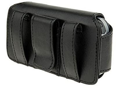 FOR MOTOROLA : Brute i680 / Quantico V840 / V845 / i410 / Barrage V860 / Entice W766 / Rival A455 / Premuim Original Black Horizontal carry pouch case holster