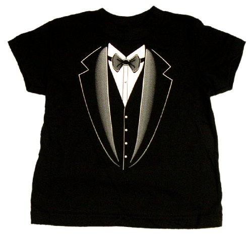 Tuxedo – Silly Kids T-Shirt, 100% Cotton, Black