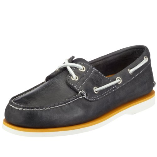 Timberland Men's Classics Navy Burnished Leather Boat Shoes, 7 UK