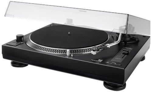 Dual-DTJ-3011-USB-DJ-Plattenspieler-3345-Umin-Pitch-Control-Magnet-Tonabnehmer-System-Nadelbeleuchtung-USB-Kabel-schwarz