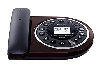 パナソニック デジタルコードレス電話機 子機1台付き 1.9GHz DECT準拠方式 ブラウン VE-GDF61DL-T
