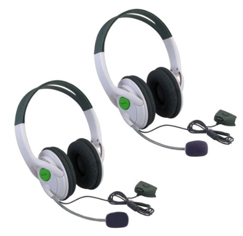 Axiom 2 Packs Live Headset Headphone With Microphone For Xbox 360 Slim