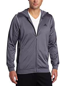 adidas Men's Pro Model Pure Pullover Hoodie, Lead/Black/White, Small