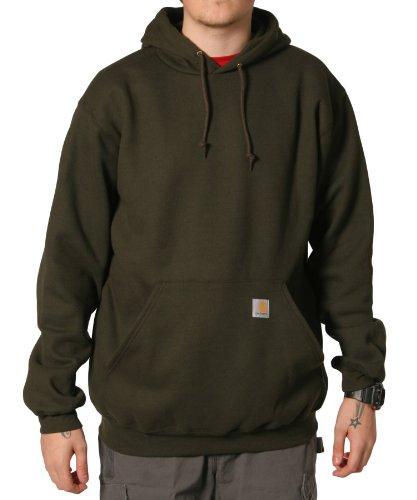 Carhartt K121 Hooded Sweatshirt Green Mens Hoodie Top