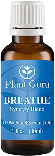 Breathe Synergy Blend Essential Oil. 30 ml. (1 oz) 100% Pure, Undiluted, Therapeutic Grade. (Eucalyptus, Peppermint, Tea Tree, Lemon, Lavender, Cardamom, Bay)