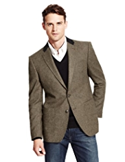 Autograph Pure Wool 2 Button Donegal Jacket