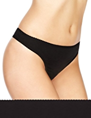 5 Pack Cotton Rich Plain Thongs