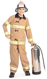 Young Heroes Child's Fire Fighter Costume, Large