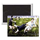 Rugby Match: England v New Zealand in the.. - 3x2 inch Fridge Magnet - large magnetic button - Magnet