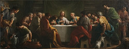 The Perfect Effect Canvas Of Oil Painting 'Maella Mariano Salvador La Ultima Cena Ca. 1794 ' ,size: 30 X 78 Inch / 76 X 199 Cm ,this Imitations Art DecorativeCanvas Prints Is Fit For Dining Room Decor And Home Gallery Art And Gifts (Photo Developer Machine compare prices)
