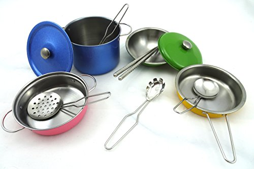 Ultimate Kitchen Cookware Play Set With Stainless Steel Pots And Pans Includes Kitchen Utensils Durable Long Lasting Kitchen Play Set For Kids (Ultimate Play Kitchen compare prices)