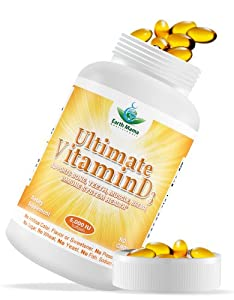 #1 Vitamin D3 5000 IU (Cholecalciferol) - 100% Best Quality All Natural Lanolin Source - GMO Free & Preservative Free - High Potency Vitamin D3 Supplement for Bone, Heart, Muscle, Immune System Health and Vitality - 100 Softgels