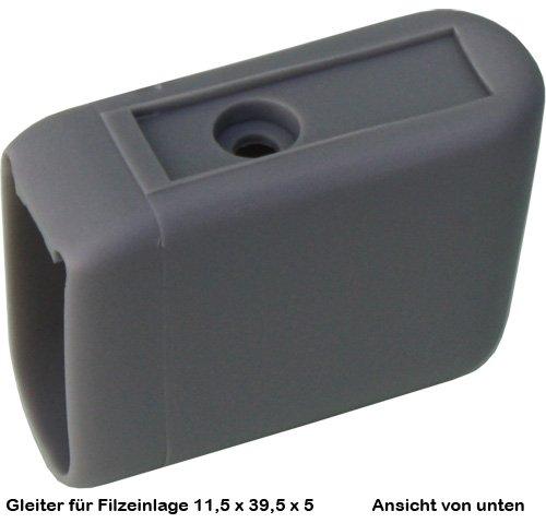 DEKAFORM Möbelgleiter / Kunststoffgleiter für Filzgleiter, Stuhlgleiter vorn für Filzeinlage / Doppel-C-Tisch für Filzeinlage* braun
