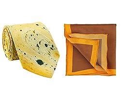 Chokore Rust & Brown Silk Tie & Pocket Square set