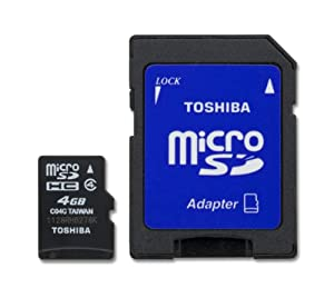 Toshiba 4GB Micro SDHC Card with STD Adapter (SD-C04G2T2TRT)
