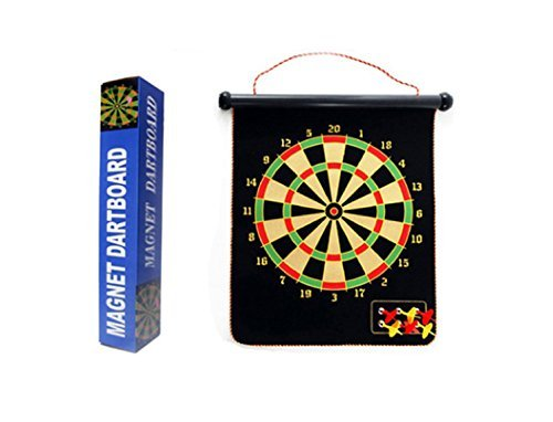Double Sided Hanging Magnetic Dart Board Set