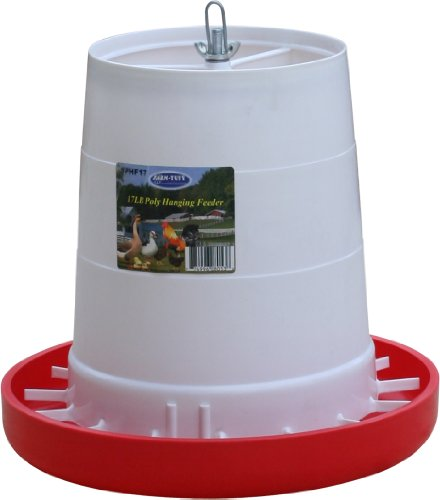 Farm Tuff Plastic Hanging Poultry Feeder, 17-Pound (Chicken Feeder Pan compare prices)