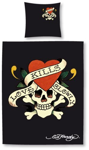 "Ed Hardy Bettwäsche ""Love Kills Slowly"""