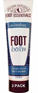 Village Naturals Foot Essentials Nourishing Foot Balm 9 fl oz 3PACK