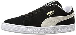 PUMA Suede Classic Sneaker,Black/White,11.5 M US Men\'s