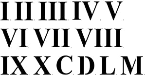 Massif image pertaining to roman numeral stencils printable