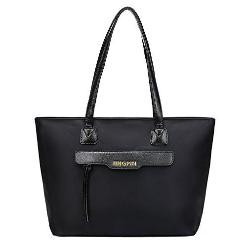 Longra Borsa a tracolla della borsa di modo delle donne (Nero)