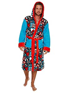 Marvel Captain America Comic Strip Fleece Bathrobe