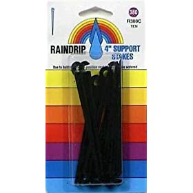 "Raindrip #R380CT 10PK 4"" Support Stakes"