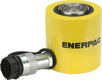 """Enerpac RCS-201 Single-Acting Low-Height Hydraulic Cylinder with 20 Ton Capacity, Single Port, 1.75"""" Stroke Length"""